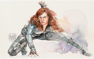 Aquarela Black Widow - Iron Man 2