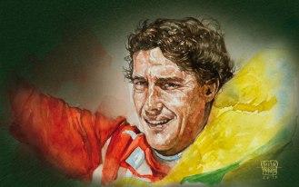 Aquarela Ayrton Senna