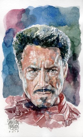 Aquarela Tony Stark - Iron Man