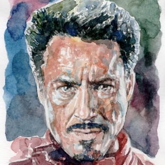 Aquarela Tony Stark - Iron Man